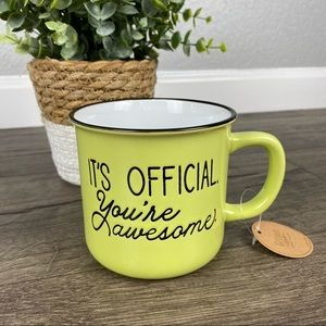 IT'S OFFICIAL. YOU'RE AWESOME. Dual-Sided Mug NWT